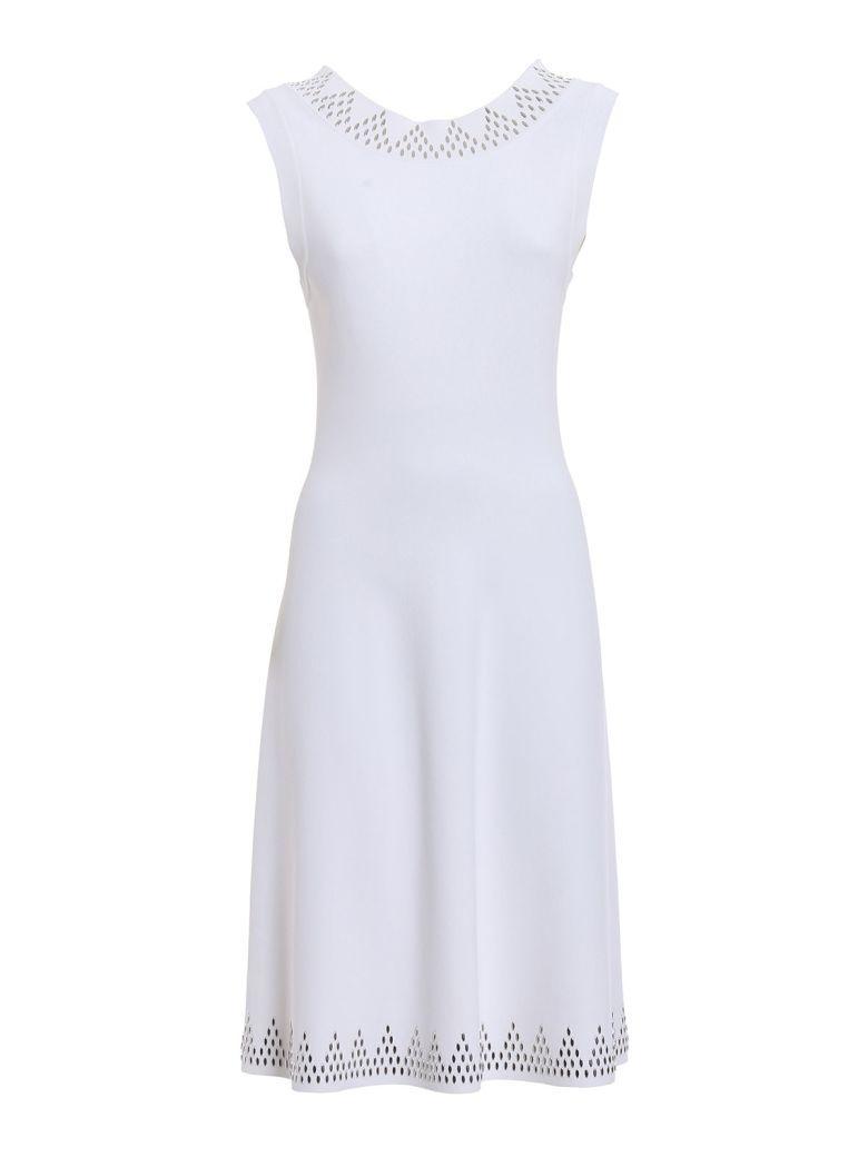 AlaÏa Triangle Dress In Cwhite