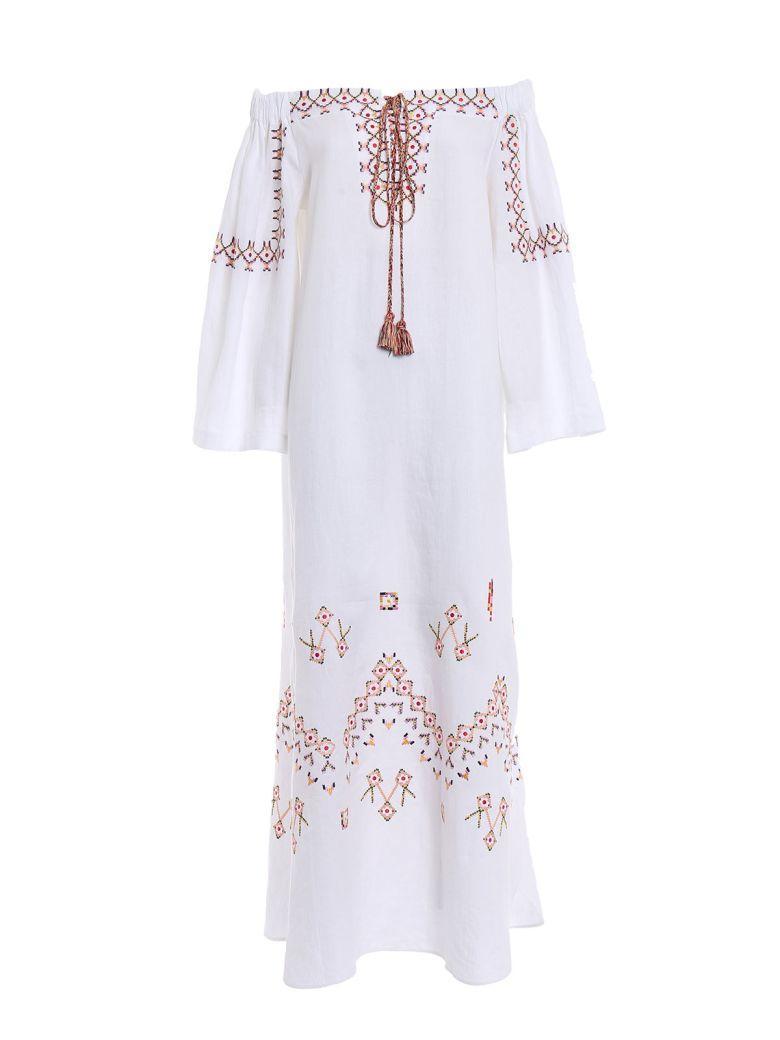 Ermanno Scervino Embroidered Off-shoulder Dress In White