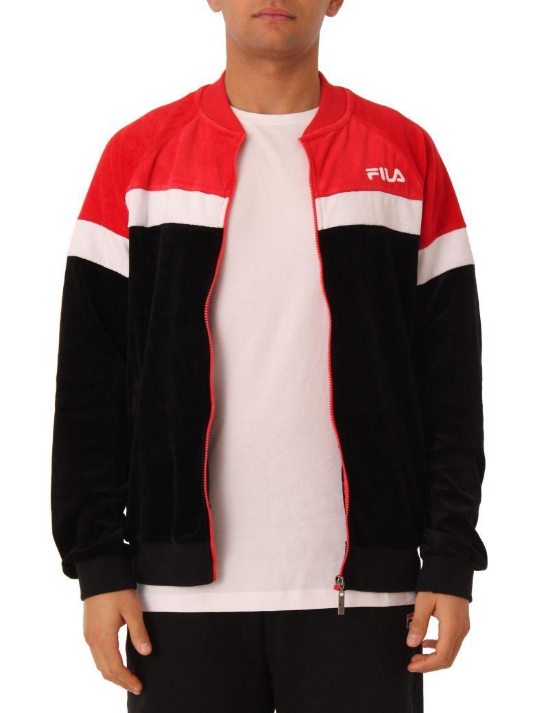 3f9c9a226f26 Fila Kelvin Velvet Track Jacket In Black | ModeSens