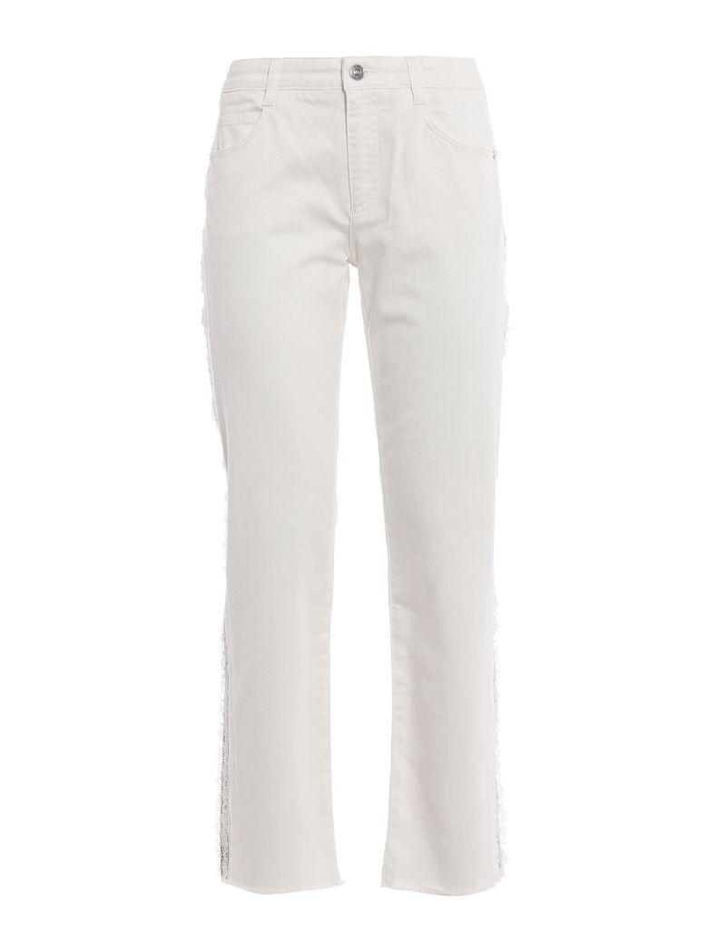 Ermanno Scervino Laced-insert Jeans In White