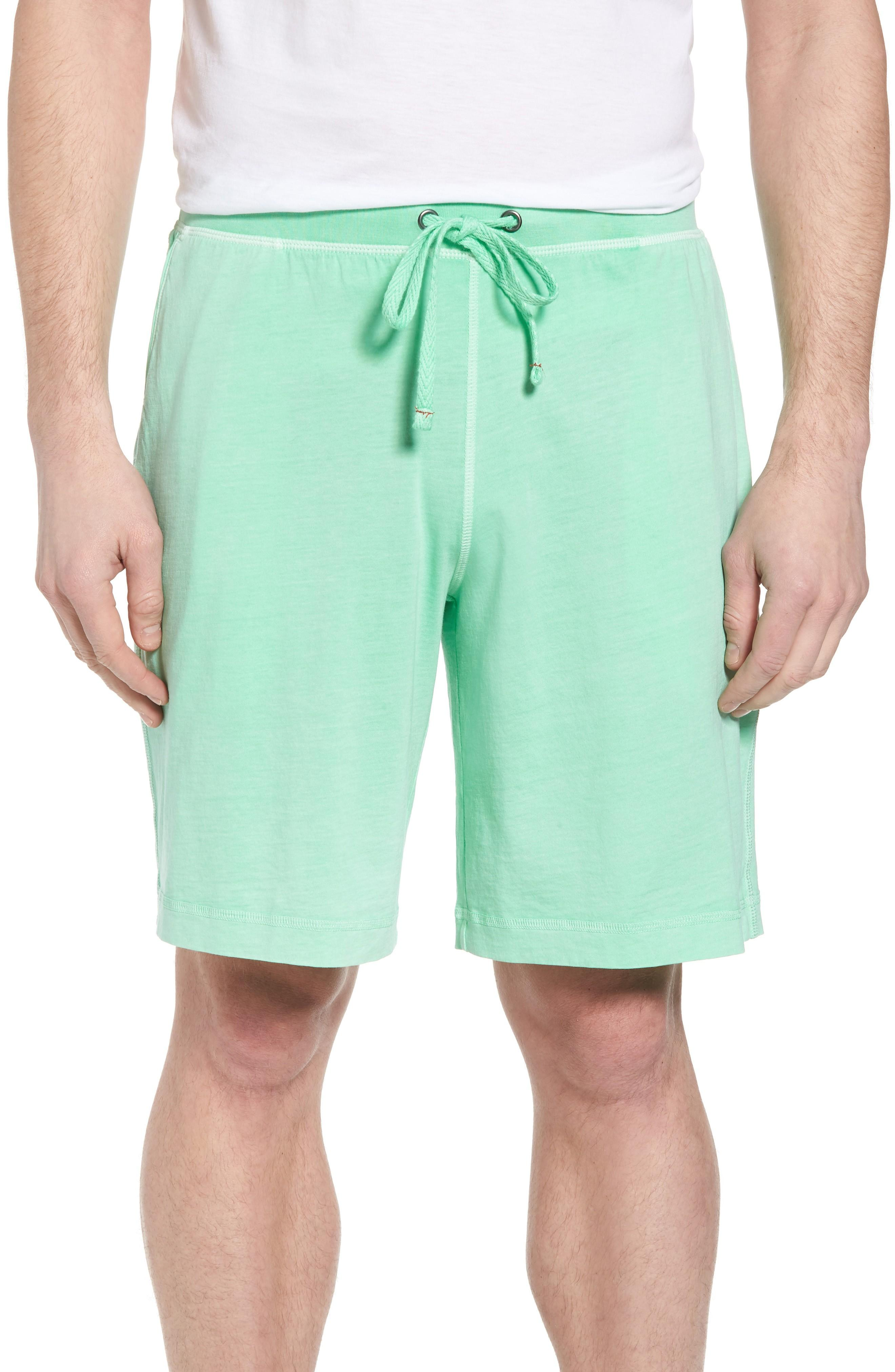 Daniel Buchler Peruvian Pima Cotton Lounge Shorts In Lime