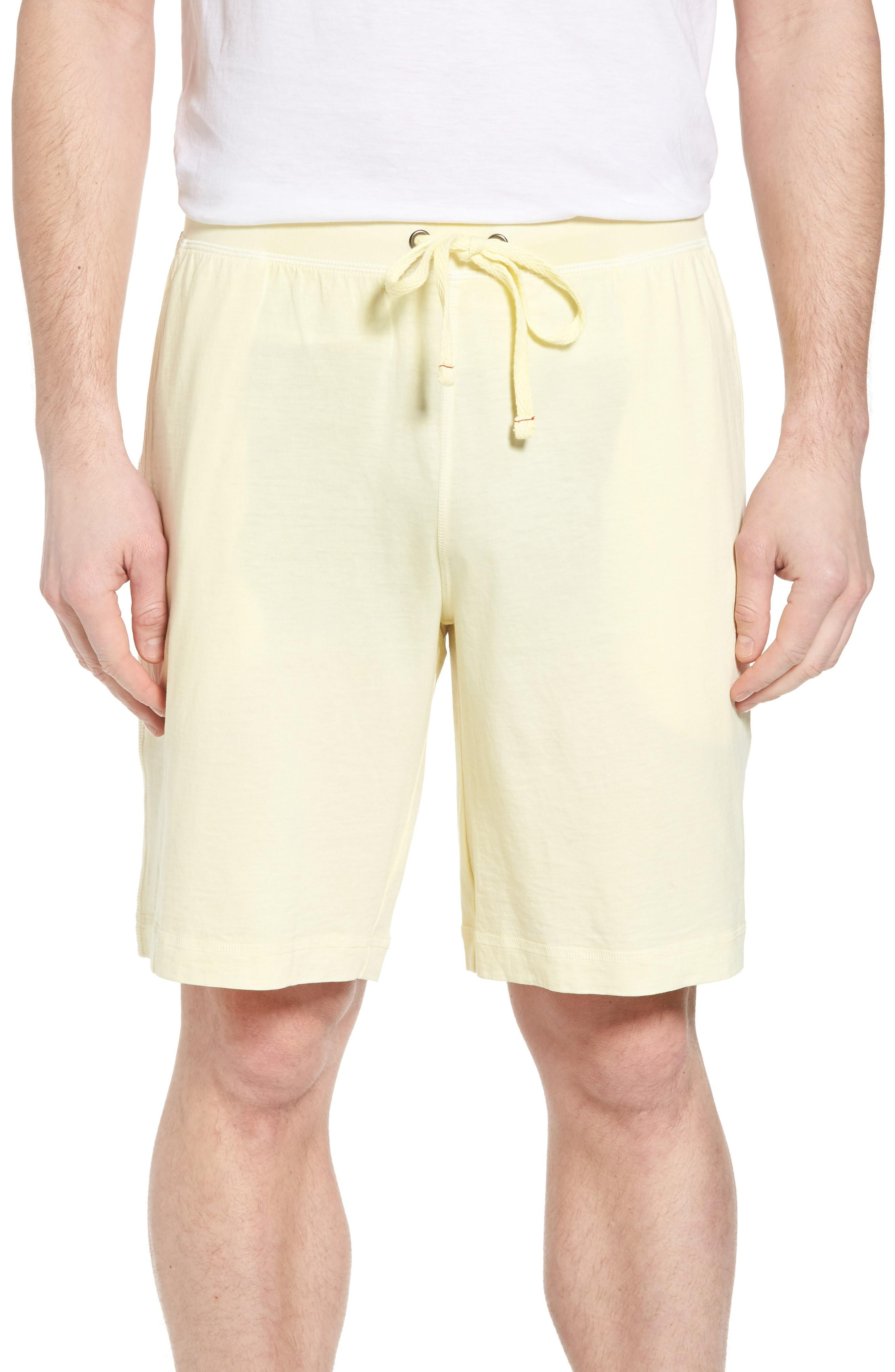 Daniel Buchler Peruvian Pima Cotton Lounge Shorts In Yellow