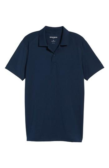 Bonobos M-flex Flatiron Slim Fit Golf Polo In Navy