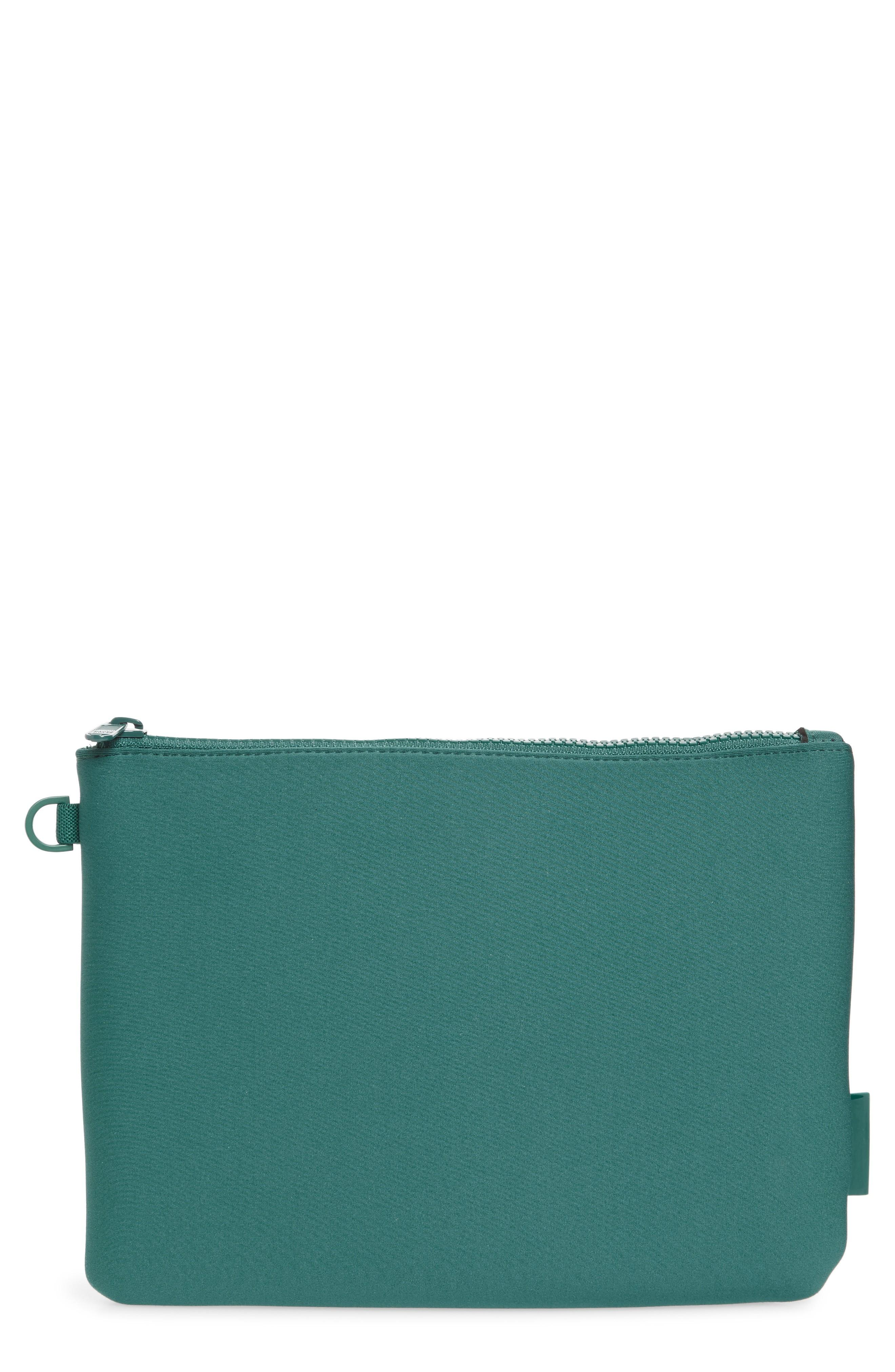 Dagne Dover Scout Large Zip Top Pouch - Blue/green In Palm