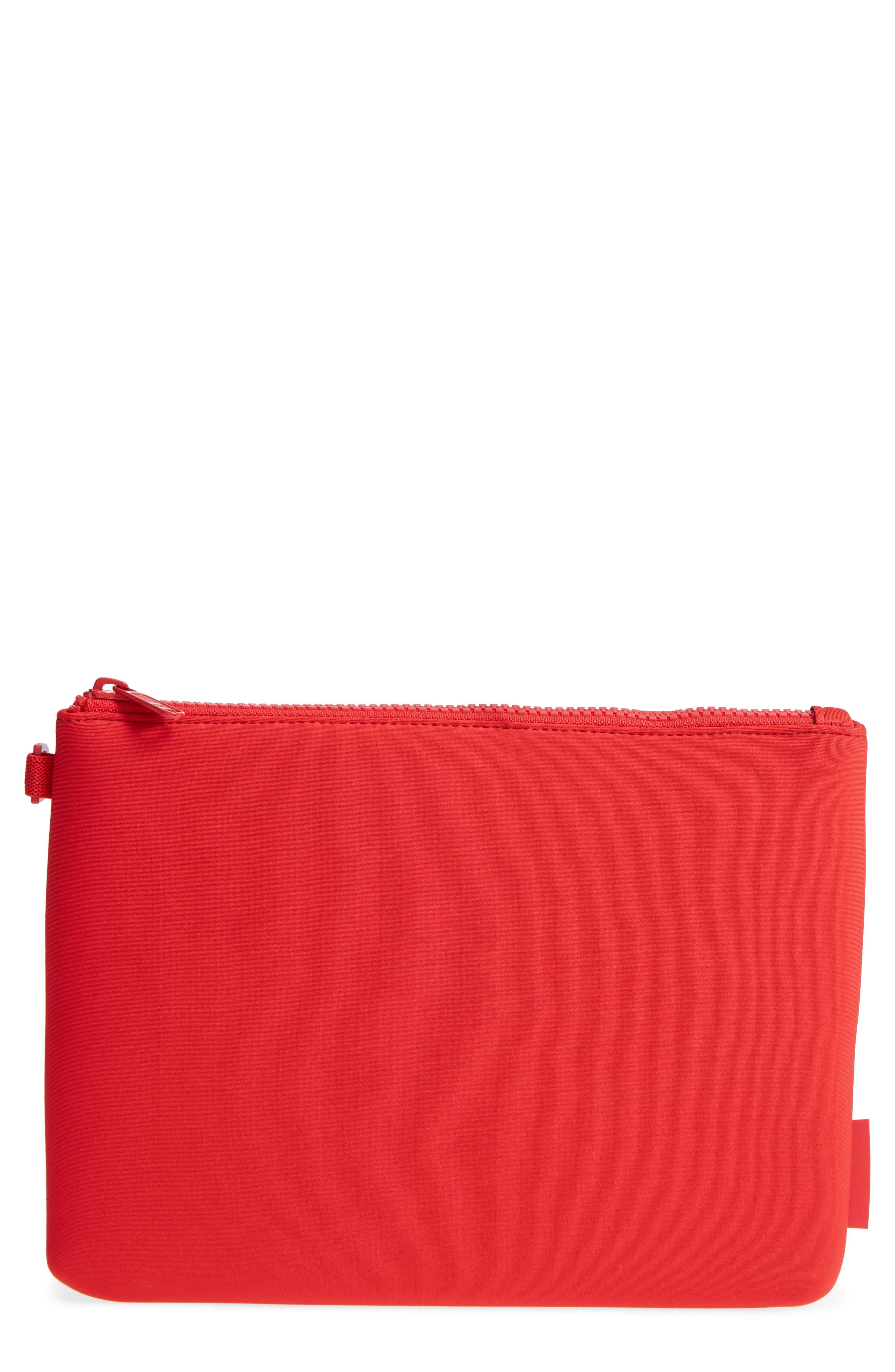 Dagne Dover Scout Large Zip Top Pouch - Red In Poppy
