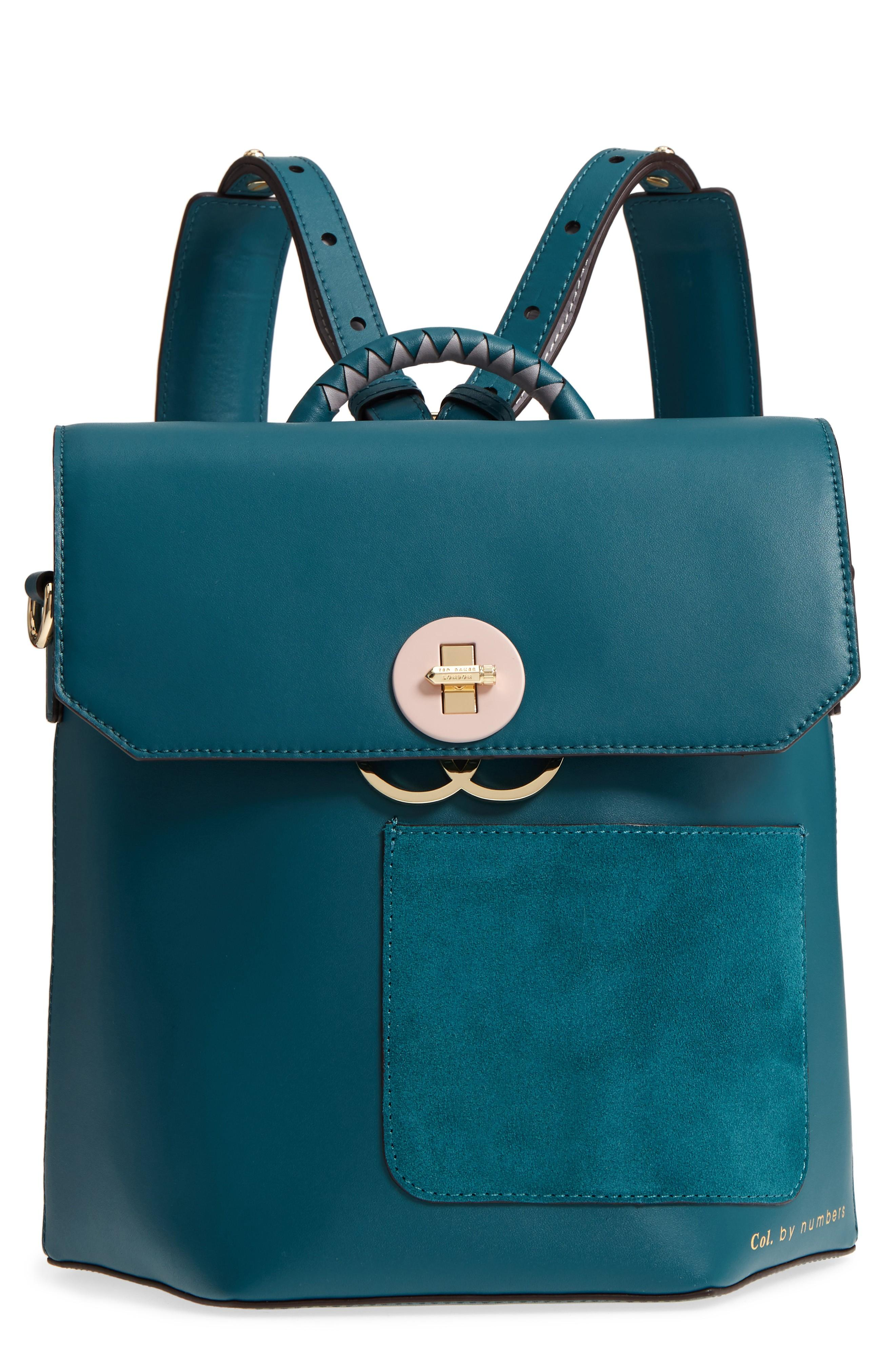 ed1897886 Ted Baker Colour By Numbers Leather Backpack - Green In Teal