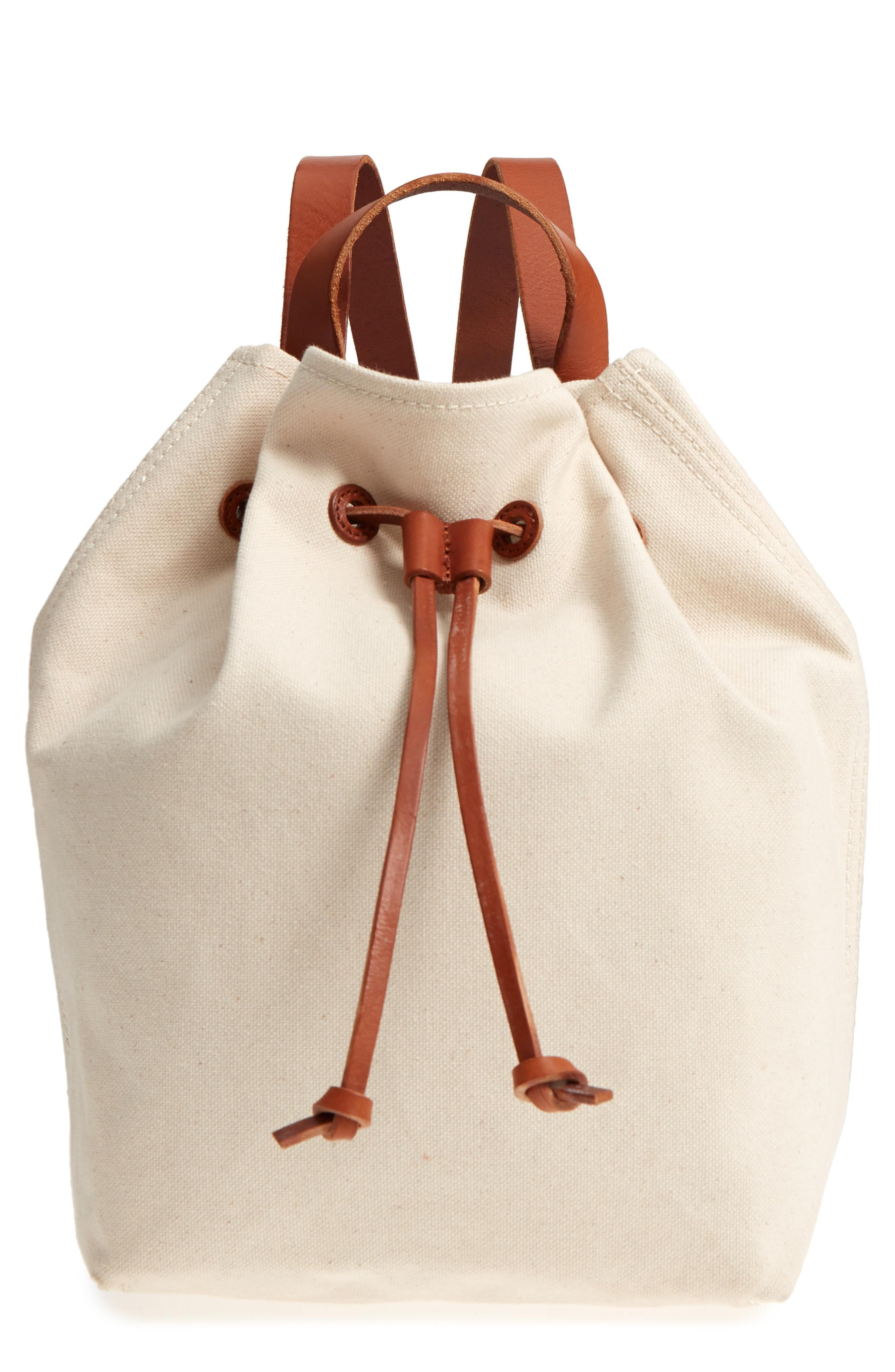 Madewell Somerset Canvas Backpack - Ivory In Vintage Canvas