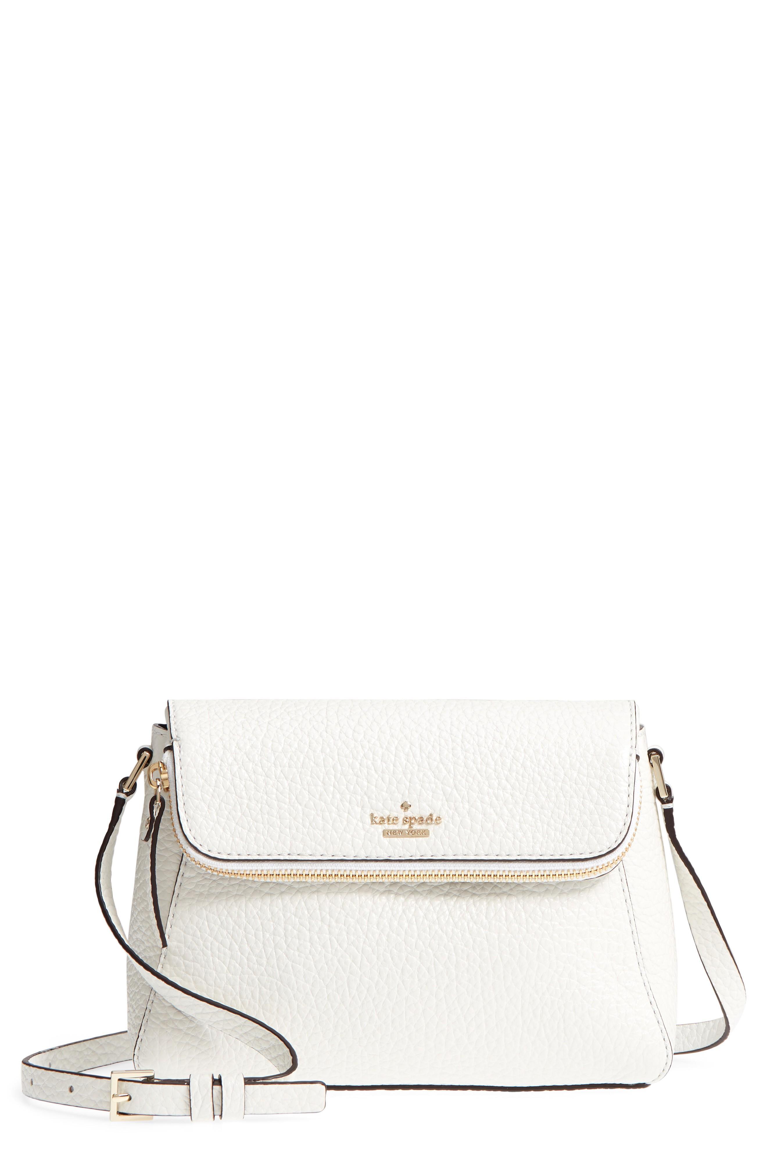 Kate Spade Carter Street - Berrin Leather Crossbody Bag - White In Bright White