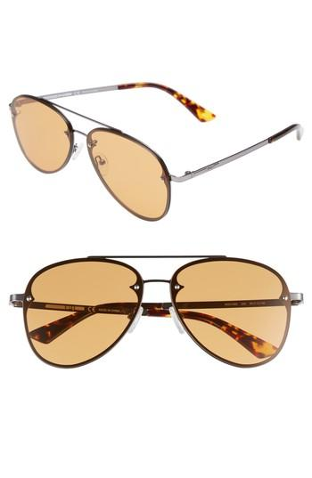 Mcq By Alexander Mcqueen 59mm Aviator Sunglasses - Ruthenium