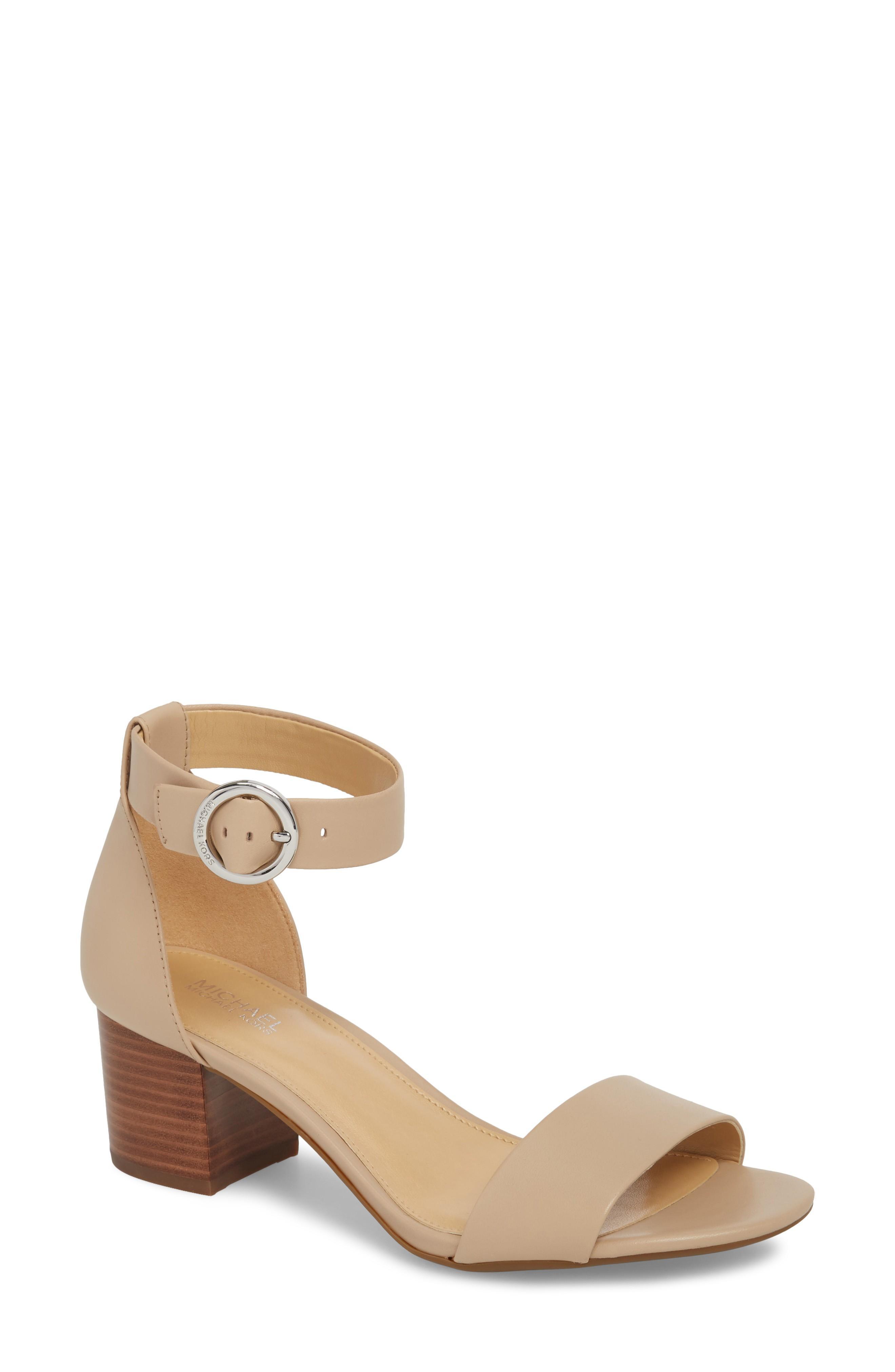 1894c1f699a Michael Michael Kors Lena Block Heel Sandal In Bisque