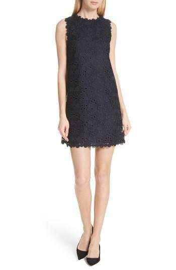 09de126e003f Kate Spade Lace Shift Dress In Rich Navy | ModeSens