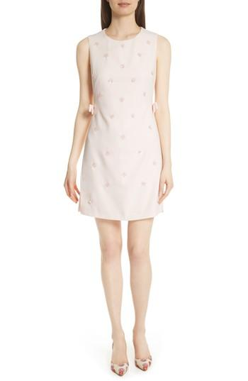 Ted Baker Embellished Tunic Dress In Nude Pink
