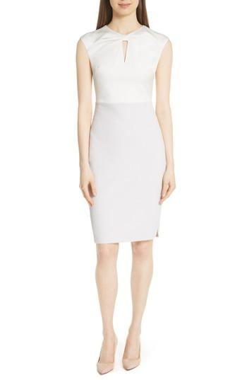 Ted Baker Mock Two-piece Pencil Dress In Grey