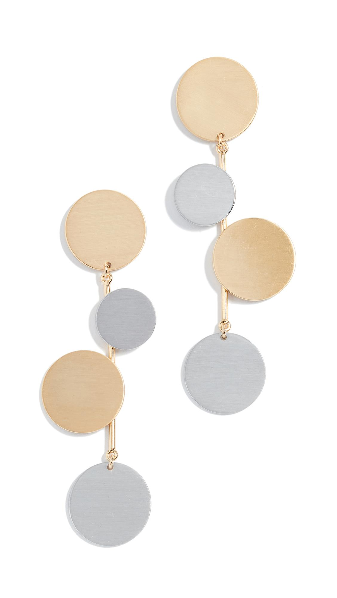 Baublebar Rona Drop Earrings In Yellow Gold Multi