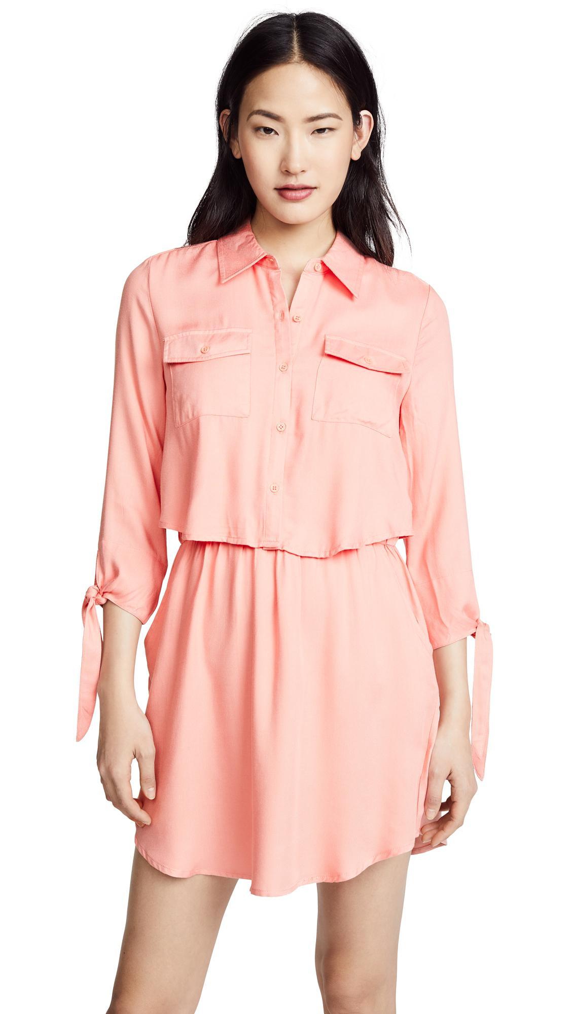Bb Dakota Blige Dress In Rose Pink
