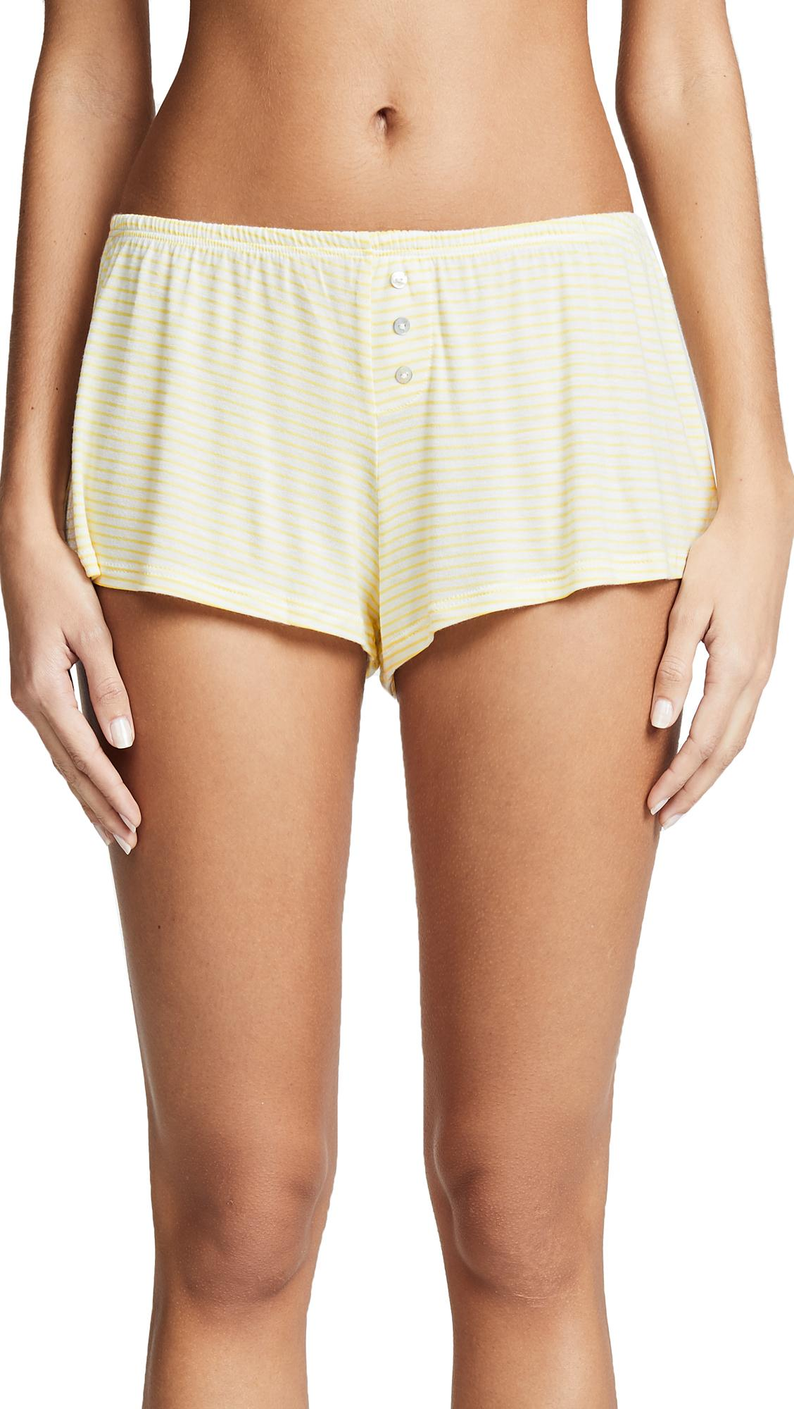 Eberjey Love Letters Shorts In Cloud/pineapple