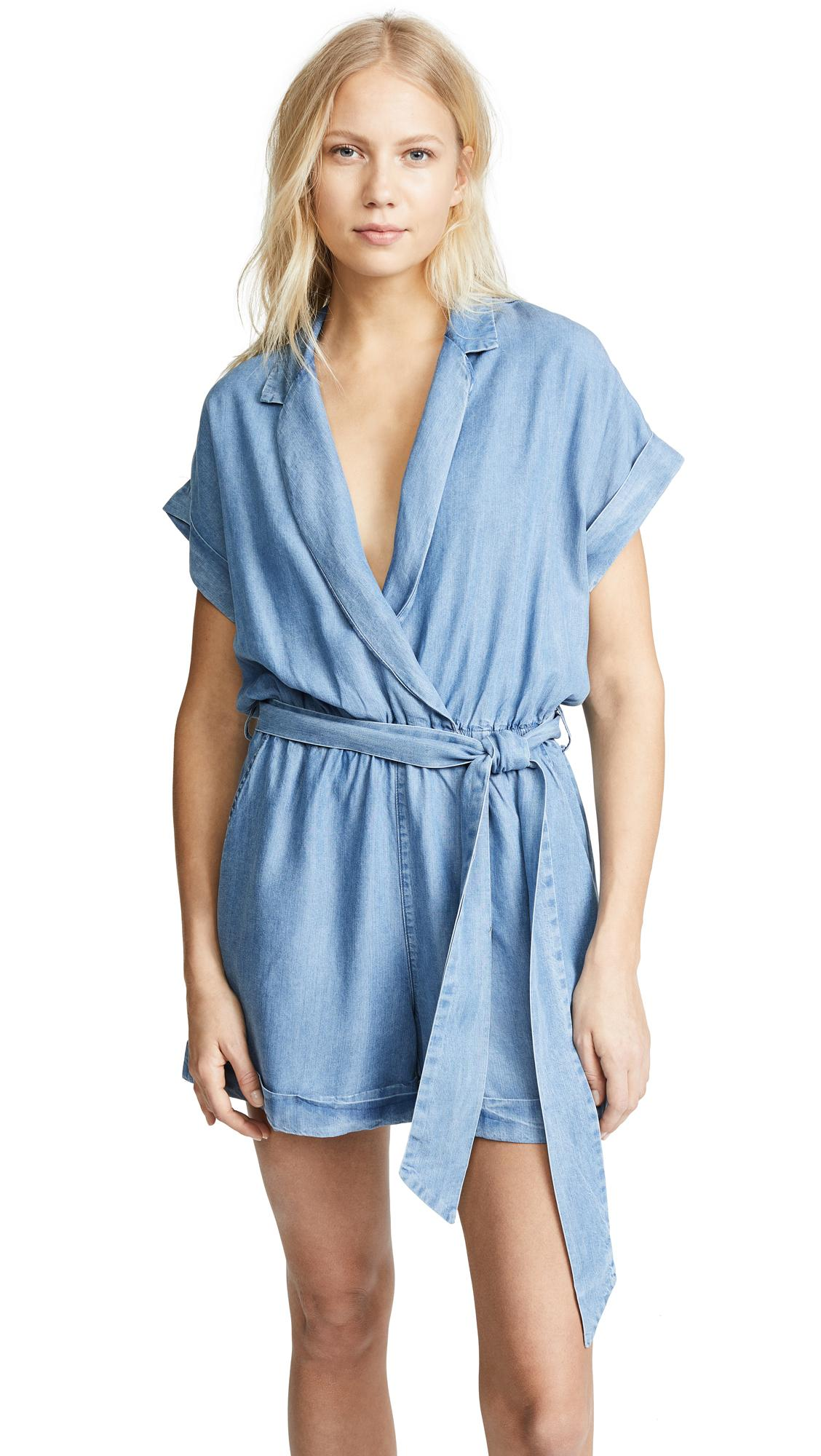 Etienne Marcel Shorts Romper In Chambray