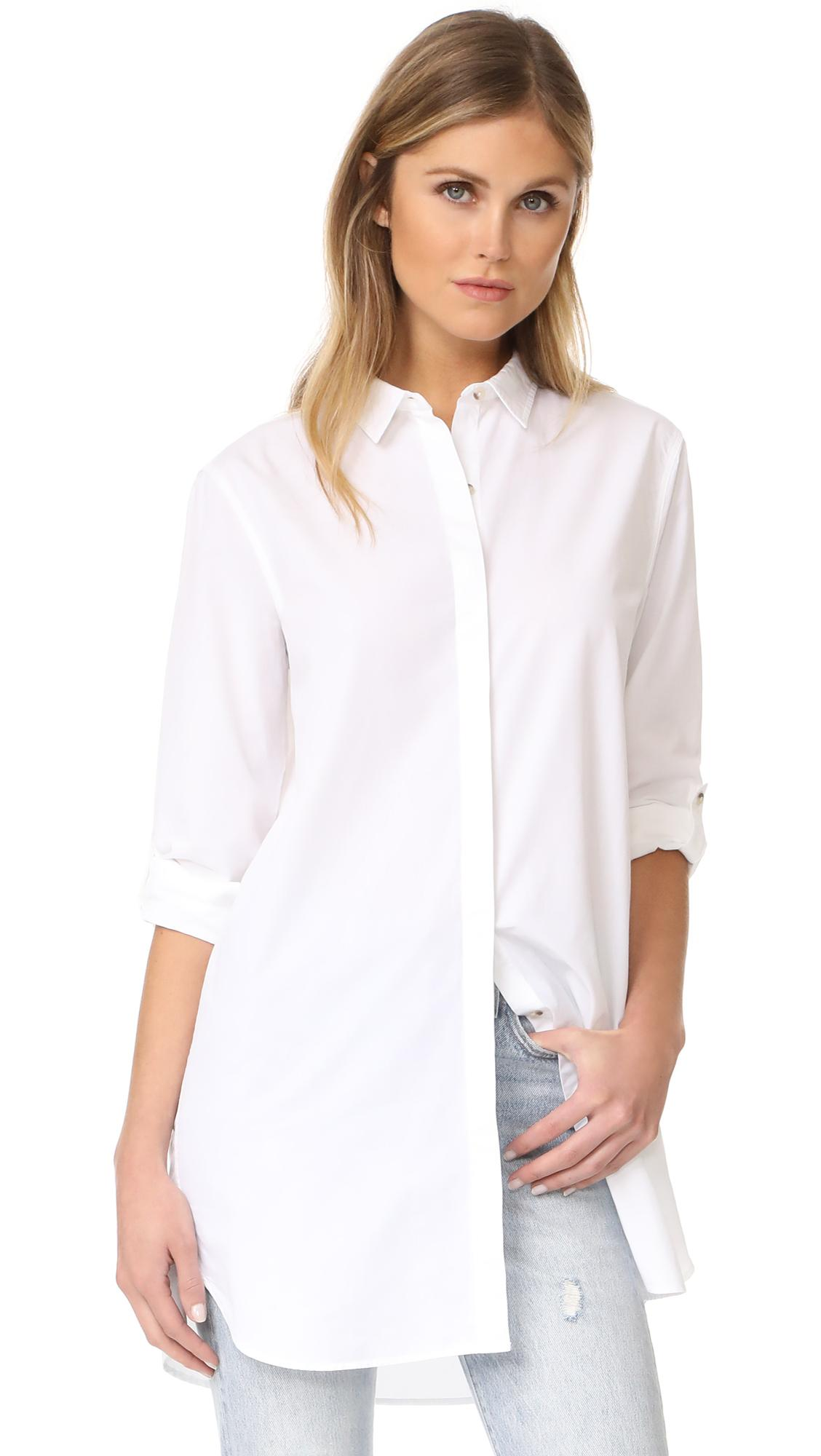 M.i.h Jeans The Oversized Shirt In White
