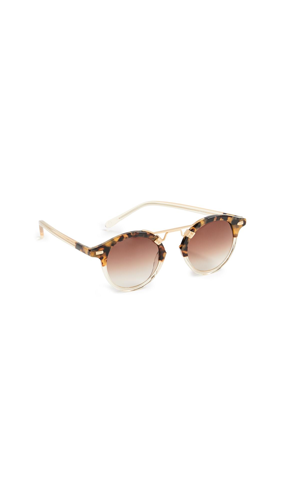 Krewe St. Louis Round Two-tone Sunglasses In Tortoise/champagne