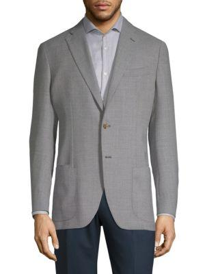 Luciano Barbera Notch Wool Sports Coat In Light Grey