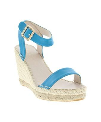 Nicole Miller Women's   Eden Wedge Espadrille In Turquoise Burnished Synthetic
