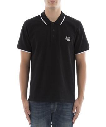 Kenzo Men's  Black Cotton Polo Shirt