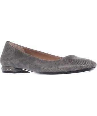 Calvin Klein Fridelle Studded Heel Ballet Flats, Shadow Grey