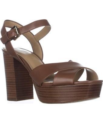 Michael Kors Michael  Divia Platform Sandals, Luggage In Brown