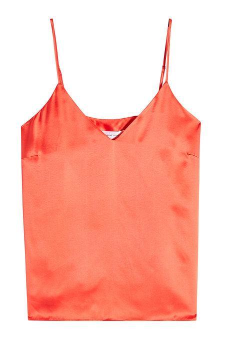 Anine Bing Gwyneth Silk Camisole In Red