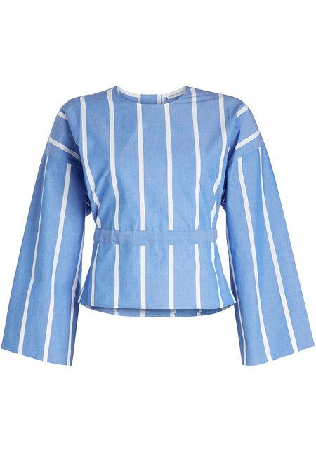 Rejina Pyo Brook Cotton Blouse In Blue