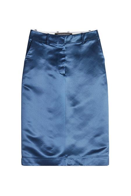 Calvin Klein 205w39nyc Satin Skirt In Blue