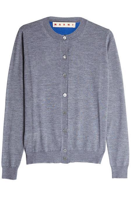 Marni Cashmere Cardigan In Grey