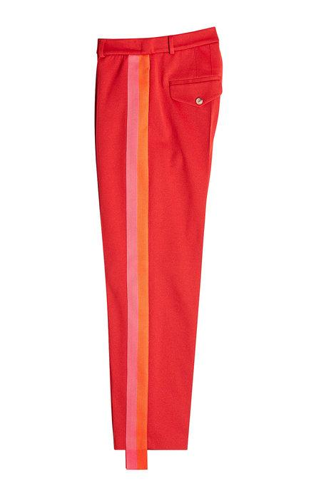 Golden Goose Stirrup Pants With Cotton In Red