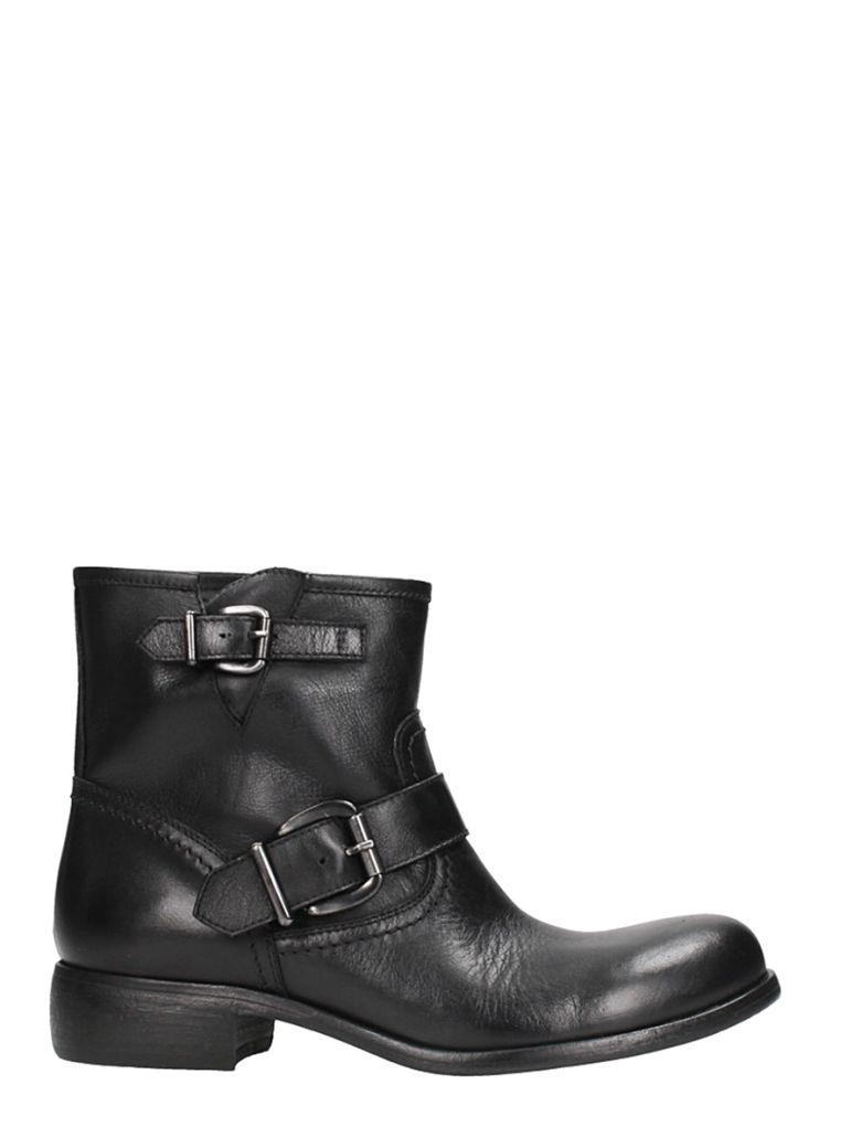 Strategia Black Calf Leather Boots