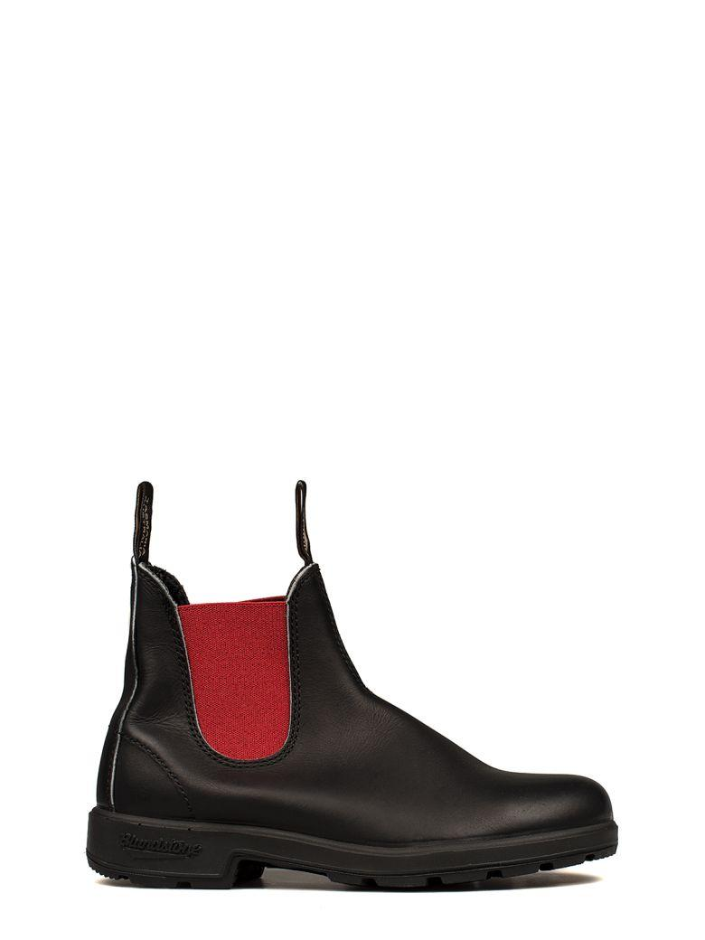 Blundstone Black/red Leather Low Boot In Black - Red