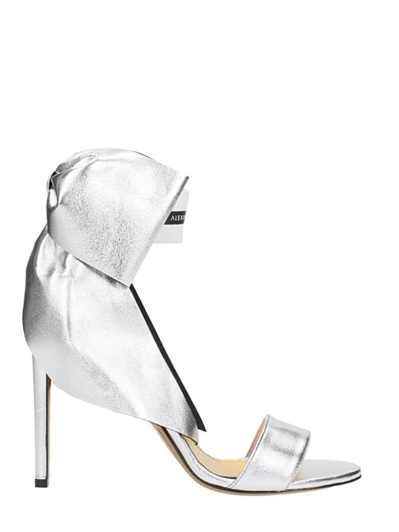 Alexandre Vauthier Bow Detail Sandals In Silver