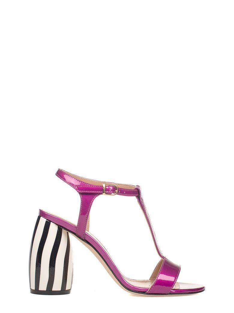 Marc Ellis Bouganville Patent Leather Heeled Sandal In Purple