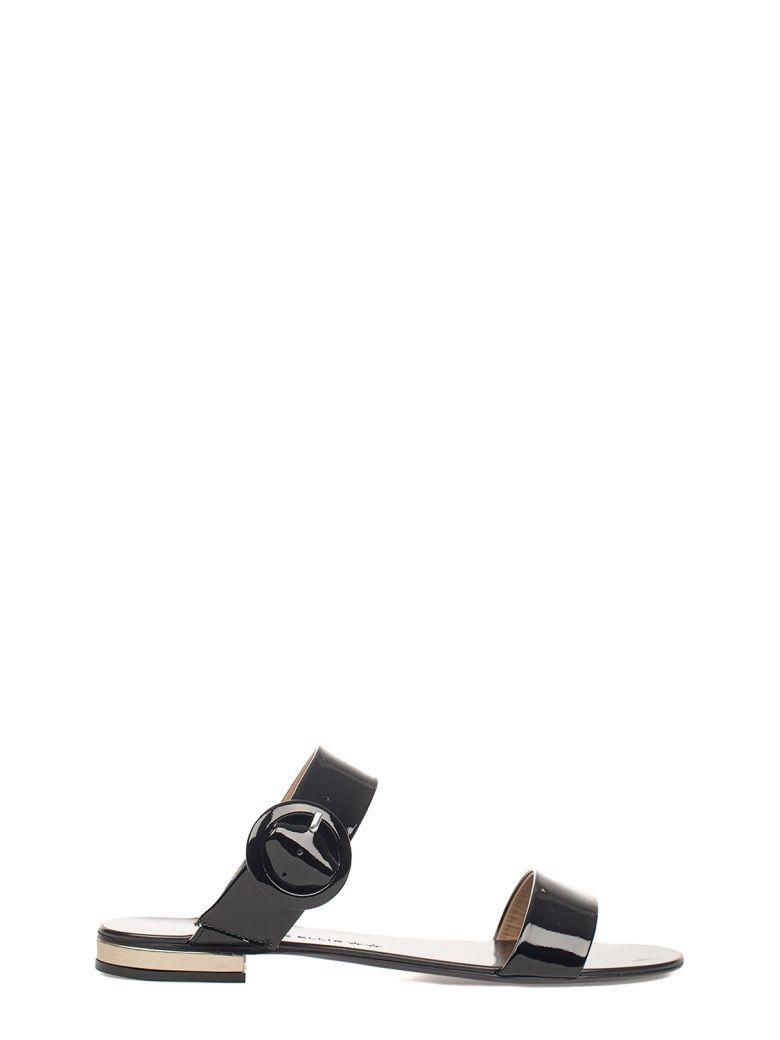 Marc Ellis Black Patent Leather Sandal
