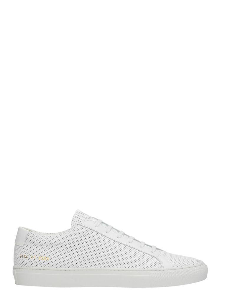 Common Projects Perforated White Leather Sneakers