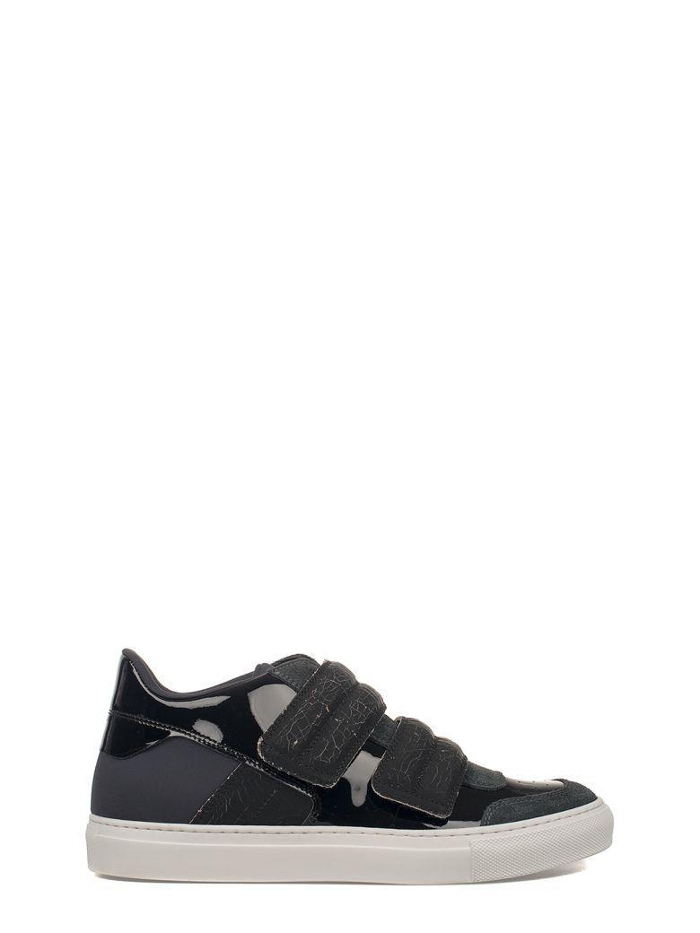 Mm6 Maison Margiela Black Patent Leather Sneakers