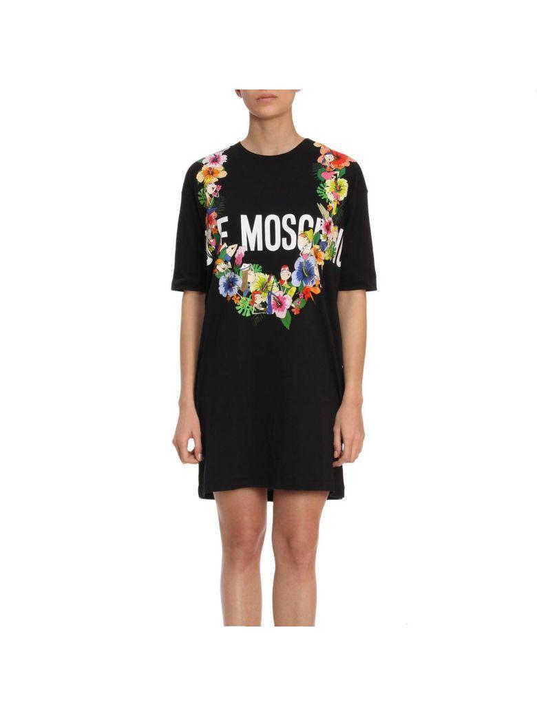 Love Moschino Dress Dress Women Moschino Love In Black
