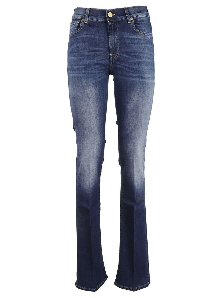 7 For All Mankind Flared Jeans In Blu