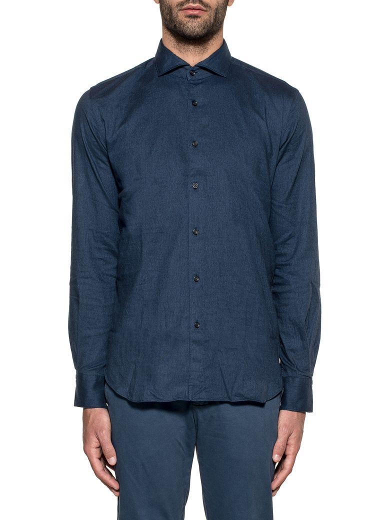 Xacus Dark Blue Stretch Shirt