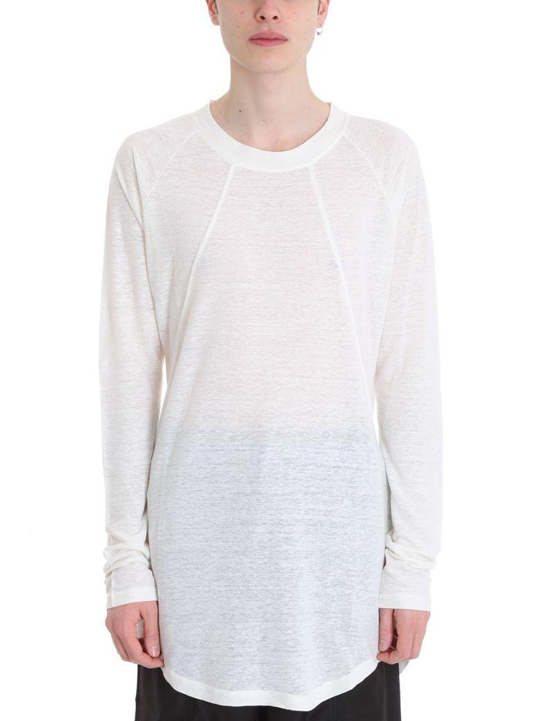 D.Gnak By Kang.D White Line And Cotton Knit