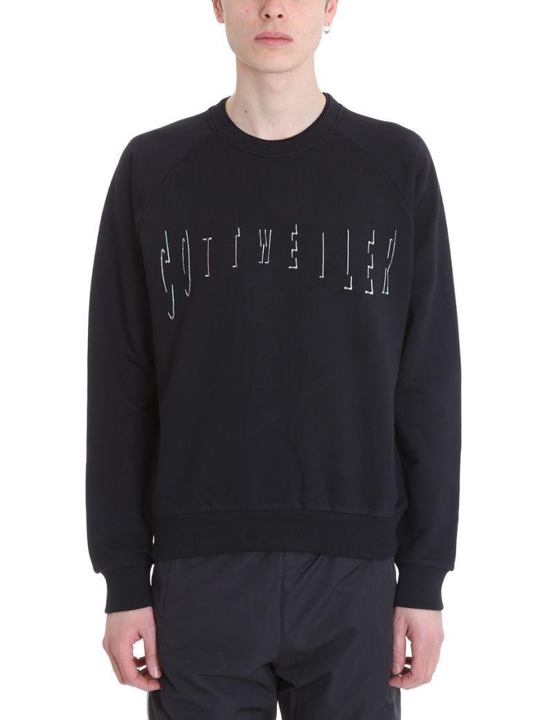 Cottweiler Logo Cotton Sweatshirt In Black