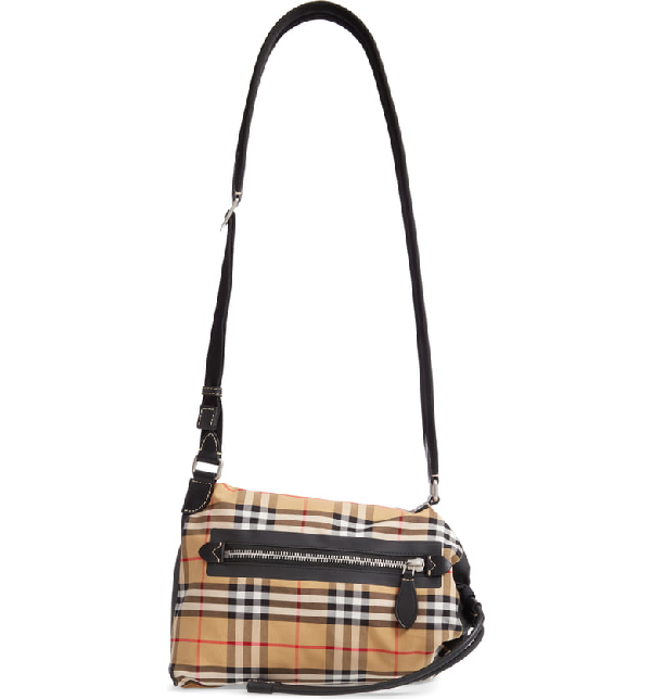 ef34a54d1c6f9 Burberry Small Vintage Check Sailing Duffle Sling Bag - Yellow ...