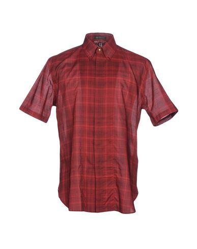 Versace Checked Shirt In Red