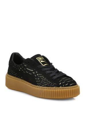 Basket Suede Platform Sneakers