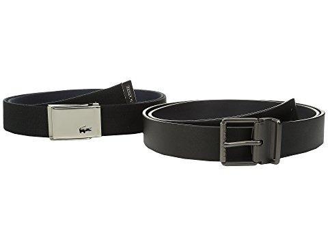 Lacoste Sportswear Tonal Croc Belt In Black/navy