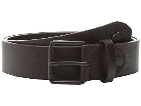 Lacoste Sportswear Tonal Croc Belt In Brown
